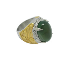 Wholesale Cheap Two Rings - Hot Selling Indonesia Two Tone Rings New Arrival Factory Directly Stainless Steel Set Unique Rings for Men Satire Rings Cheap