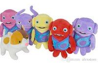 Wholesale Dog Alien - 2015 Home Movie Cartoon Plush Toys Crazy alien toy doll 20cm Boov oh Tip Captain Smek Lucy Kyle Toni Dog Dreamworks 6 styles