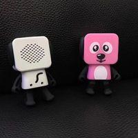 Wholesale mini portable speaker robot resale online - NEW Dancing Dog Bluetooth Speaker Portable Mini Electronic Robot Stereo Speakers Electronic Walking Toys With Music Wireless Speaker Toy