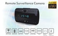 Wholesale motion activated mini camera recorder resale online - 1080P WIFI Clock camera T10 Full HD Night vision clock DVR P2P mini IP Camera Wireless Camcorder Motion Activated Video Recorder