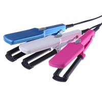 Wholesale Hair Wavers - New Portable Hair Styling Three Barrel Splint Curling Crimper Tongs Waver Curler Beauty Monofunctional Mini Hair Curler Roller