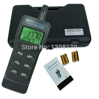 Wholesale Co2 Meter Air - Wholesale-3-in-1 Indoor Air Quality Monitor Carbon Dioxide CO2 Meter 9999ppm Temperature Humidity RH DP WBT Digital IAQ Tester