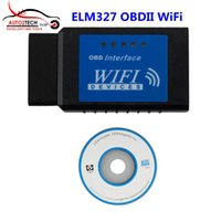 Wholesale Diagnostic Cable Iphone - Best Price ELM327 OBDII WiFi Diagnostic Wireless Scanner for Apple iPhone Touch High Quality ELM327 WIFI Scanner