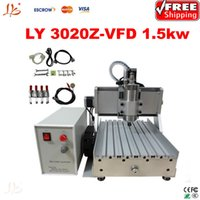 Wholesale Cnc Router Machine Water Cooling - Free shippinng Newest desktop cnc router 3020 Z-VFD1.5KW with 1.5KW VFD water cooling spindle Ball Screw metal etching machine