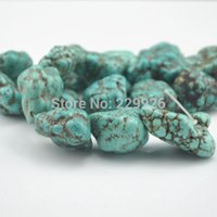 Wholesale 45mm Beads - BD2 10PC Strand Irregular Turquoise Big Stone Bead Loose Beads Gemstone Green Natural Stone About 20-45mm Dia Approx 10PCS