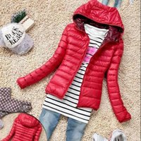 Wholesale Thin Slim Down Coat Womens Winter Warm Candy Color Jacket Overcoat Parka Hot Sale