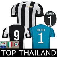 Wholesale Italia Football - 120TH ANNIVERSARY Soccer Jersey Goalkeeper Gianluigi Buffon Black Goalie Dybala Italy MAGLIA Calcio HIGUAIN Italia 17 18 Football Shirts