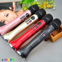 Hot selling Original Brand MS-L598 Wireless handheld Microphone bluetooth Dynamic Microphone With Loudspeaker Recorder MP3player KTV for Android iOS PC
