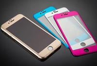 iphone 4.7 5.5 ekran koruyucusu toptan satış-3D Kavisli Tam Kapak Titanyum Alaşım Temperli Cam Ekran Koruyucu koruyucu Film iPhone 6 4.7 inç / Perakende Paketi Ile 6 artı 5.5 inç