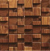 Wholesale Wholesale Interior Designs - 3D wooden mosaic tiles interior design wall tiles building supplies home hotel bar restaurant design mosaic tile patterns natural wood mosai