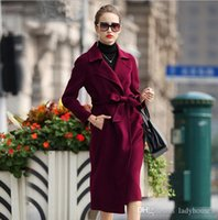 High-End Dame Winter Parka Kleid Double Kaschmir Mantel Woolen Lady Jacke Windjacke lange Wolle Trenchcoat Top Qualität