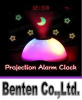 Wholesale Digital Projection Clock Led - llfa977 Hot sales Starry Digital Magic LED Projection Alarm Clock Night Light Color Changing