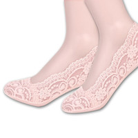 Wholesale Silicone Female Feet Model - Wholesale-Invisible socks shallow mouth invisible socks explosion models lace silicone foot boat socks female socks thin anti-slip off