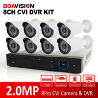 Wholesale Dvr 8ch 8pcs - Analog High Definition Dahua Solution HD CVI System 8CH 1080P CVR Supports 2.0MP 8Pcs Bullet CVI Camera IR 20m CCTV HDCVI DVR Kit