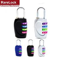 Wholesale Handbag Favor Box - Wholesale- Rarelock Multicolor 4 Digit Combination Padlock Password Lock for Travel Bag Backpack Handbag Box Luggage Custom Coded DIY
