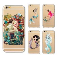 Wholesale Iphone Little Mermaid - Phone Cases for Apple Iphone 7 6S 6 8 Plus SE X Fantastic little mermaid Soft Silicon TPU Case Cover for samsung S8 S8PLUS
