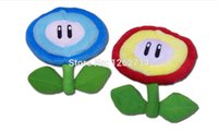"Wholesale Mario Plush Fire Flower - Wholesale- Free Shipping EMS 30 Lot Super Mario Plush Doll Figure Ice Fire Flower 7"" New Toy"
