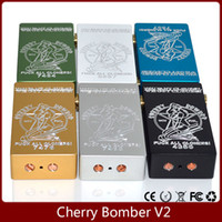 Wholesale Engraved Batteries - Cherry Bomber Box Mod Upgrade Version Engraving Cherry Bomber V2 Mod Fits 18650 Battery 510 Thread RDA Atomizer Mechanical Mods