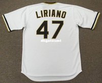 Cheap Custom FRANCISCO LIRIANO Pittsburgh Pirates 1970's Majestic Cooperstown Baseball Jersey Retro Mens Jerseys