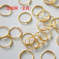 Wholesale 12mm Octagon Crystal Beads - Wholesale-500pcs lot, 12mm ,Gold connection ring stainless steel ring octagon beads diy crystal slitless connector bead curtain lamp pj03