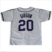 Wholesale Men S Button Down - 30 Teams- Josh GIBSON #20 Homestead Grays Negro League Button Down Jersey Grey Men's Double Embroidery and Stitched Baseball Jerseys