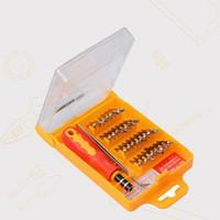 Wholesale Wholesale Magnetic Pocket Screwdrivers - Free shipping 32 in 1 set Micro Pocket Precision Screwdriver Kit Magnetic Screwdriver cell phone tool repair box Hardware Repair MicroData