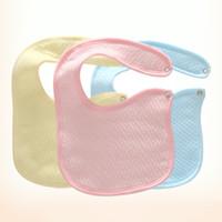 Wholesale Newborn Girl Burp Cloths - 9PCs Newborn Baby Bibs Cotton Absorbent Bibs Burp Cloths Boys Girls Saliva Towel Bibs Babies Accessories
