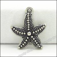 ingrosso risultati di gioielli di zinco-Ciondolo stella marina 100 pz vintage ciondolo stella marina tibetano argento in lega di zinco misura collana bracciale fai da te in metallo risultati dei monili