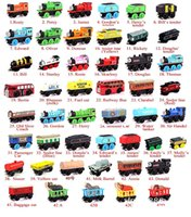 Wholesale Wooden Car Toys - Wooden Small Trains Cartoon Toys 70 Styles kids wooden Toys Trains Friends Wooden Trains Car Toys