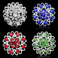 Wholesale jewelry brooch bouquet resale online - Fashion hollow Rhinestone heart brooches love bouquet brooch pins collar corsage for women men statement jewelry Christmas jewelry