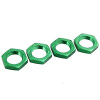 Wholesale Electric Rc Car Wheels - RC 81212 Green Alum Wheel Hub Nuts 4PC For HSP 1:8 Car Buggy Truck 17mm Adapter