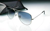 marco 62 al por mayor-Gafas de sol del diseñador de la marca de fábrica para mujer de la gran calidad vendedora caliente lentes del gradiente del marrón del marco de plata con la lente de 62 milímetros de la caja