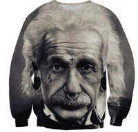 Wholesale Plus Size Galaxy Sweater - New 2014 fashion women men pullover Einstein print 3d sweaters Hoodies long sleeve Galaxy Sweatshirts top plus size