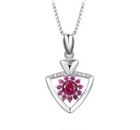 Wholesale Fine Jewelry Silver Pendant Guaranteed Solid Sterling Silver Pendant With Cubic Zirconia yh4246