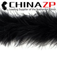 Wholesale Cheap Marabou - CHINAZP Crafts Factory 2yards lot Cheap Top Quality Dyed Black Party Decoration Turkey Marabou Feather Boas