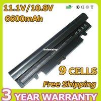 Wholesale N145 Battery - Lowest price 6600mAh Battery AA-PB2VC3B AA-PL2VC6W AA-PB2VC3W AA-PL2VC6B For SAMSUNG N143 N145 N148 N150 N250 N260 black+white