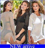 Wholesale blusas moda - newest!Women Crochet Swimwear Swimsuit Bikini Beach Cover Up Blusas Femininas Moda Praia Swimsuits Beach Wear Dress free shipping