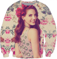 Wholesale Del Rey - Wholesale-Harajuku hoodies men women Britney Spears Baby One More Time Lana Del Rey print 3d sweatshirt plus size S-3XL Free shipping