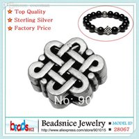 Wholesale Tibetan Beads Sale - Wholesale-Beadsnice ID28067 925 sterling silver european charm beads wholesale hot sale Chinese knot tibetan silver beads for bracelet