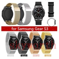Wholesale Mesh Watches - Magnetic Loop Metal Band For Samsung Galaxy Gear S3 Fitbit Charge 2 Wristband Stainless Steel Watch Bracelet Mesh Strap Replacement