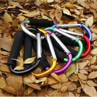алюминиевые крючки d оптовых-Губка большой размер красочные алюминиевого сплава D форма восхождение кнопка карабин брелок открытый роликовых коньках обувь пряжка супермаркет крюк