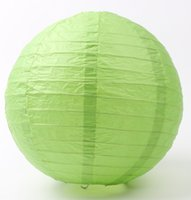 Wholesale Green Napkin Rings - MIC Hot sell Green Color Chinese Paper Lantern 8'' Wedding Decorations 20cm Wedding Supplies Weddings & Events