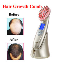 Wholesale hair grows resale online - NEW in LCD Rechargeable Electric Laser Regrowth Hair Comb Grow Hair Brush Scalp Massager Anti Hair Loss Health Care Machine