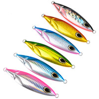 6PC Jigging Lure pesce piombo 180G / 11.5CM Metallo Jig pesca Paillette Lama Wobbler Corpo artificiale Hard Exercise Laser
