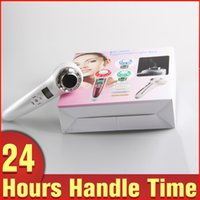 Cheap 2 In 1 Mini Home Use Ultrasonic 1Mhz Anti-aging LED Photon Ion Rejuvenation Face Massage Beauty Machine