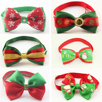 Wholesale accessories jewelry store online - 50 Armi store Handmade Christmas Dogs Festival Bow Ties Dog Tie Pet Jewelry Accessories