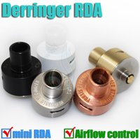 Wholesale E Cigarette Copper - Derringer RDA Mod Rebuildable stainless steel copper brass Atomizer Airflow Control vaporizer e Cigarette cigs Mechanical Mods RBA DHL free