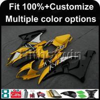 kit de carenado yzf r1 fiat al por mayor-Molde de inyección 23colors + 8Gifts Cubierta de motocicleta AMARILLA para Yamaha YZF-R6 2006-2007 YZFR6 06-07 YZF-R6 Carenado de plástico ABS
