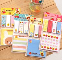 Wholesale Bear Stationery - Korean fashion stationery easily bear   tear   N times stickers   sticky   notes   convenience stickers. Students, office supplies QY