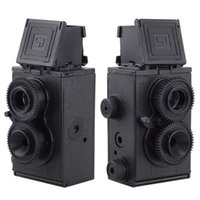 Wholesale Diy Lomo - Wholesale-SJ DIY Assemble Plastic Retro Twin Lens Reflex Lomo Camera - Black